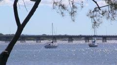 Bribie Island Bridge 2 Stock Footage