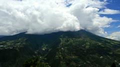 Tungurahua Volcano Banos Ecuador Stock Footage