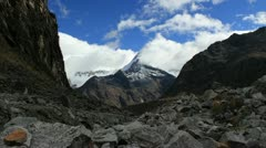 Timelapse of Artesonraju Mountain Peru - stock footage