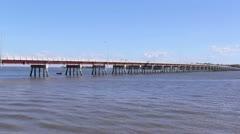 Bribie Island Bridge 4 Stock Footage