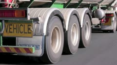 Semi Trailer Wheels - stock footage