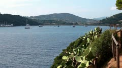 Nice View Of The Sea, Porto Azzurro, Elba Island Stock Footage