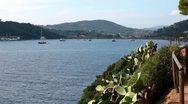 Nice View Of The Sea, Porto Azzurro, Elba Island Stock Footage