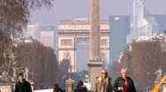 Stock Video Footage of Arc de Triomphe Tuilleries zoom out