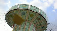 Spinning carousel Stock Footage