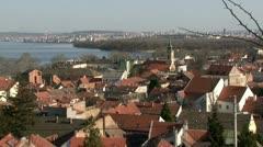 Serbia, Belgrade, Zemun, Danube river Stock Footage
