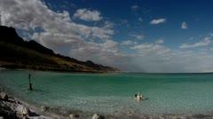 Dead sea timlapse pan 0312 Stock Footage