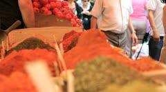 272 fresh spices, israeli market Stock Footage