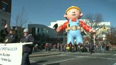 Bob the Builder balloon at parade Stock Footage