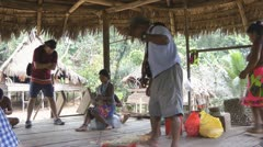 Tour Guide At An Embera Indian Village In Panama Stock Footage