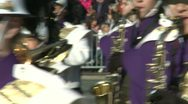 Stock Video Footage of Marching band on the move (3 of 3)