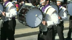 Drumline perform at parade (5 of 5) Stock Footage
