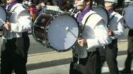 Stock Video Footage of Drumline perform at parade (5 of 5)
