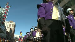 Marching band on the move (1 of 3) - stock footage