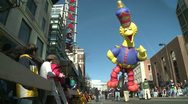 Stock Video Footage of Big Bird balloon at parade