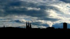 Croatia Zagabria panorama clouds Stock Footage