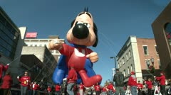 Underdog balloon at parade (1 of 2) Stock Footage
