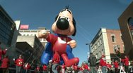 Stock Video Footage of Underdog balloon at parade (1 of 2)