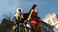Stock Video Footage of Superhero float at parade