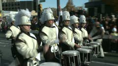 Drumline perform at parade (3 of 5) Stock Footage
