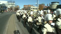 Drumline perform at parade (2 of 5) Stock Footage