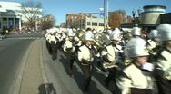 Stock Video Footage of Drumline perform at parade (2 of 5)