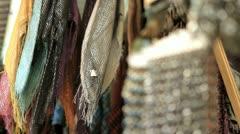 280 scarfs stand, tel aviv market Stock Footage
