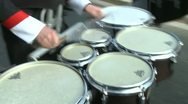 Stock Video Footage of Closeup of drummers in marching band