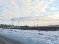 spring wind mill sky - stock footage