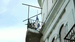 286 israeli flag on Stock Footage