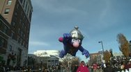 Stock Video Footage of Giant Super Grover balloon at parade