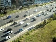 City traffic - stock footage