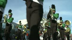 Marching band performs at parade (1 of 5) - stock footage
