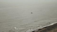 Fisherman on sea Stock Footage