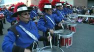 Stock Video Footage of Drummers in marching band