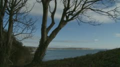 Isle of Wight coastal scene (two) Stock Footage