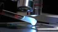 Stock Video Footage of Microscope exam
