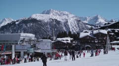 Courchevel 1850 Stock Footage