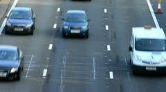 Vehicles on M1 motorway, UK Stock Footage