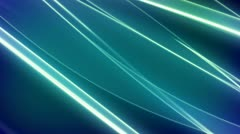 Stock Video Footage of Flowing Clean Blue Green Lines Looping Animated Background