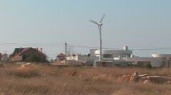 Wind turbine. Autonomous house. Stock Footage