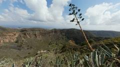 4K UHD La Caldera de Bandama in volcanic island Gran Canaria time lapse - stock footage
