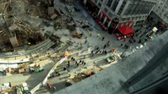 Leicester Square Time Lapse Aerial 2 HD Stock Footage