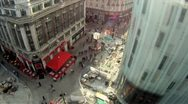 Stock Video Footage of Leicester Square Time Lapse Aerial HD