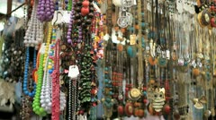 "Stock Video Footage of 281 jeweleries stand tel aviv ""Hacarmel"" market"