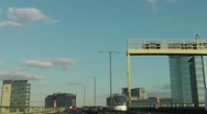 Stock Video Footage of High speed drive on the elevated section of the M4 London