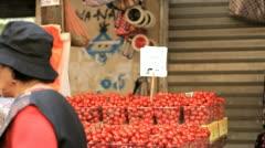 276 Cherry tomatos stand Stock Footage