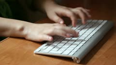 typing on wireless keyboard - stock footage