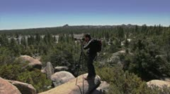 Photographer Male in Mountain 1 Stock Footage