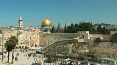 Jerusalem kotel 1 Stock Footage